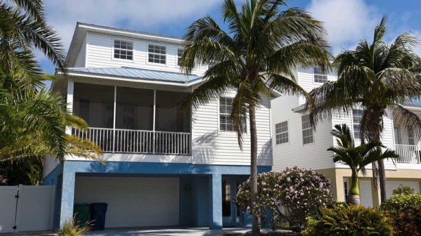 House with hurricane windows
