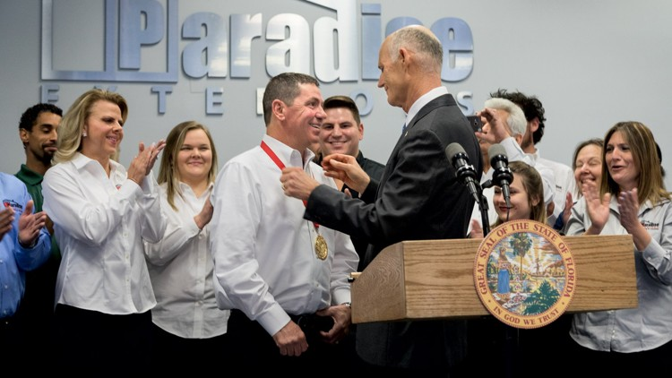 florida governor rick scott recognized paradise exteriors with the governors business ambassador award 39953679395 o